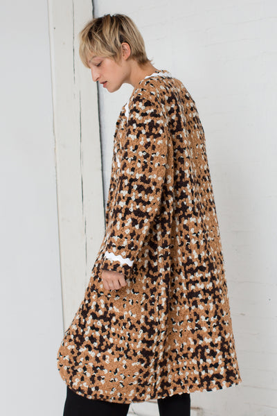 Tweed Coat in Beige