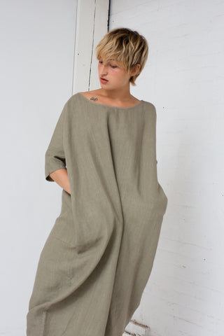 Rachel Craven Long Cocoon Dress in Sage | Oroboro Store | New York, NY