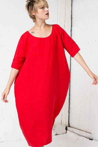 Rachel Craven Long Cocoon Dress in Poppy | Oroboro Store | New York, NY