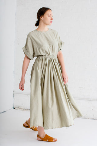 Black Crane Pleated Dress in Shetland | Oroboro Store | Brooklyn, New York