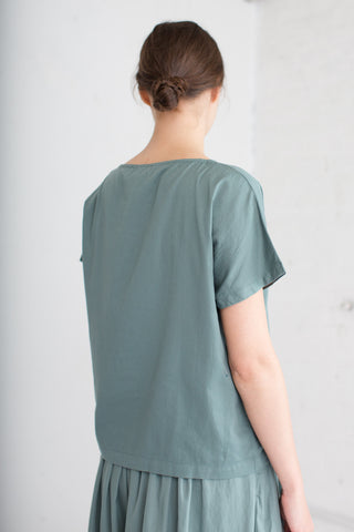 Black Crane Boat Neck Top in Dark Forest | Oroboro Store | Brooklyn, New York
