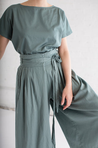 Black Crane Origami Culotte in Dark Forest | Oroboro Store | Brooklyn, New York
