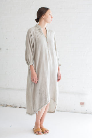 Black Crane Double Gauze Dress in Sand | Oroboro Store | Brooklyn, New York