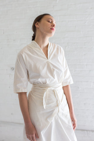 Cosmic Wonder Wrapped Dress in Natural | Oroboro Store | Brooklyn, New York