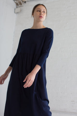 Cosmic Wonder Dolman Sleeves Dress in Indigo | Oroboro Store | Brooklyn, New York