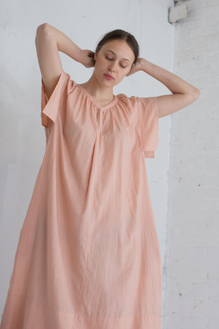 Cosmic Wonder Organic Cotton Draped Dress in Pink | Oroboro Store | Brooklyn, New York