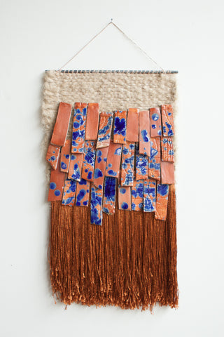 All Roads Stoneware Splatter Wall Hanging in Rust | Oroboro Store | Brooklyn, New York