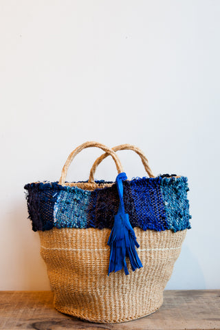 All Roads Basket Tote in Indigo | Oroboro Store | Brooklyn, New York