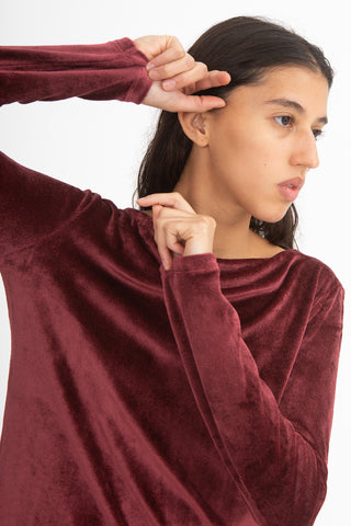 Baserange Meji Top in Burgundy | Oroboro Store | New York, NY