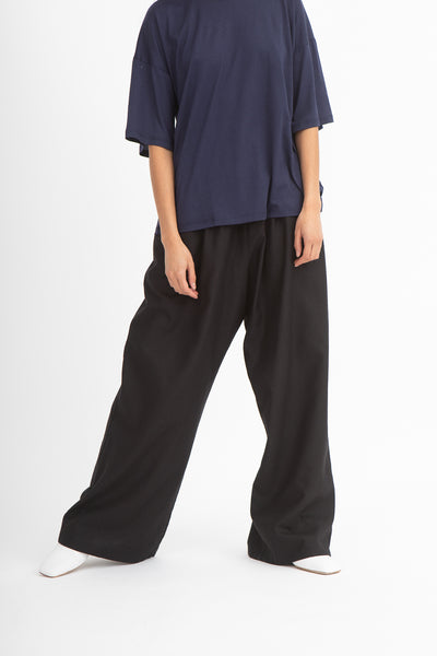 Baserange Honda Pants in Black Front View Hands By Sides