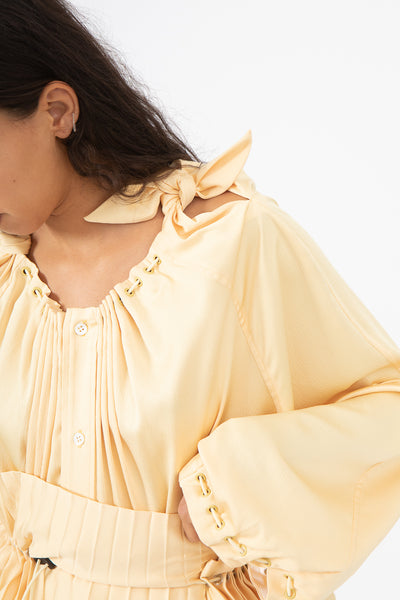 Toga Heavy Stain Blouse in Yellow | Oroboro Store | New York, NY