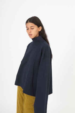 Sofie D'Hoore Tyra Sweater in Navy | Oroboro Store | New York, NY