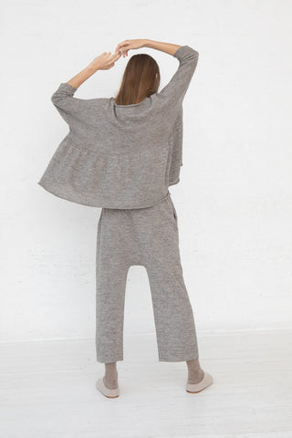 Lauren Manoogian Peg Pants in Grey Flax full back view