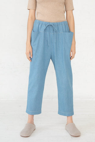 Lauren Manoogian Pocket Pant in Light Wash front view