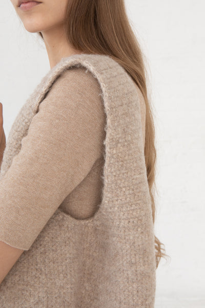 Lauren Manoogian Felt Calabaza Tote in Oatmeal close up view