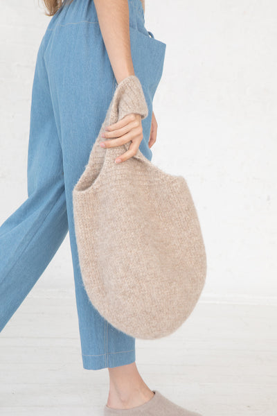 Lauren Manoogian Felt Calabaza Tote in Oatmeal side view