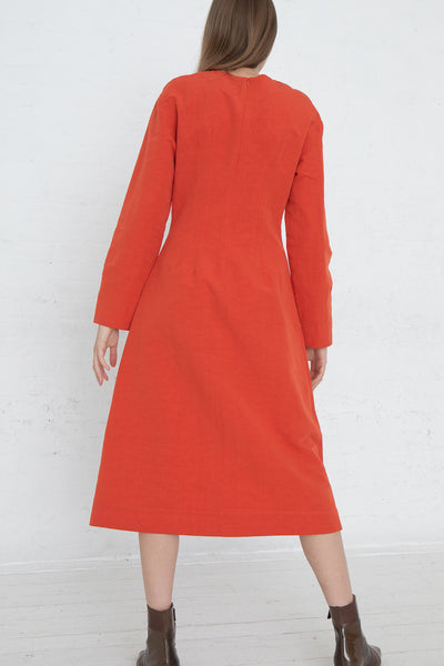 Nomia Darted Dress in Poppy, Back View