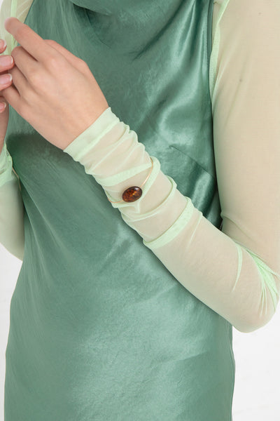 Mary MacGill Stone Cuff in Scotch Amber, on model cropped view