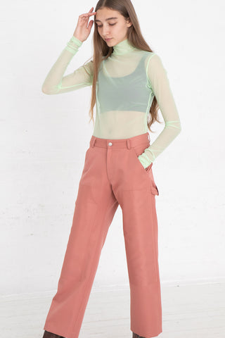Nomia Painter Pants in Tulip, Front View Full Body, Oroboro Store, New York, NY