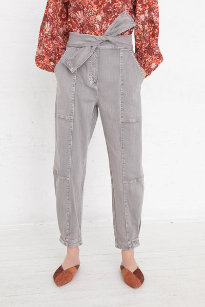 Ulla Johnson Storm Jean in Ash, Front View Cropped at Waist