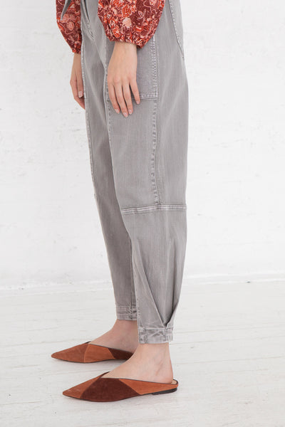 Ulla Johnson Storm Jean in Ash, Side View Hands by Sides