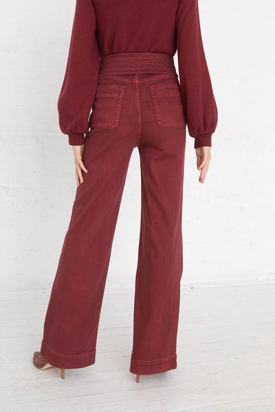 Ulla Johnson Wade Jean in Syrah, Back View