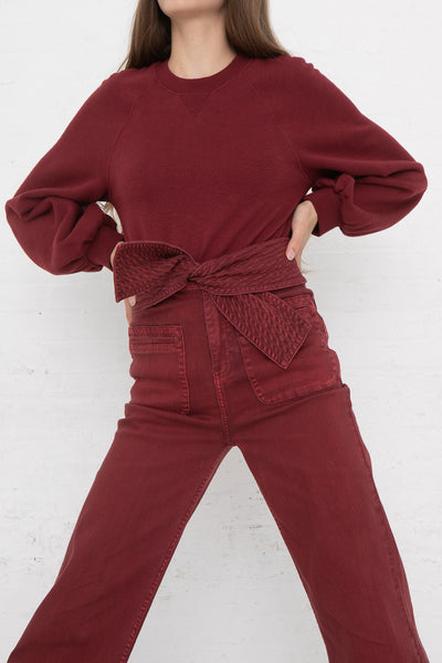 Ulla Johnson Wade Jean in Syrah, Front View Hands on Hips
