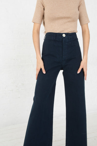 Jesse Kamm Sailor Pant in Midnight front view