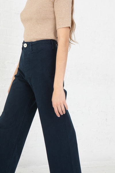 Jesse Kamm Sailor Pant in Midnight side view