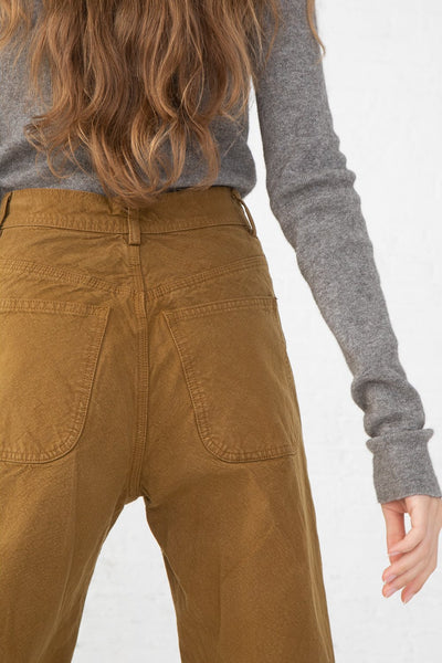 Jesse Kamm Handy Pant in Tobacco back pocket detail view