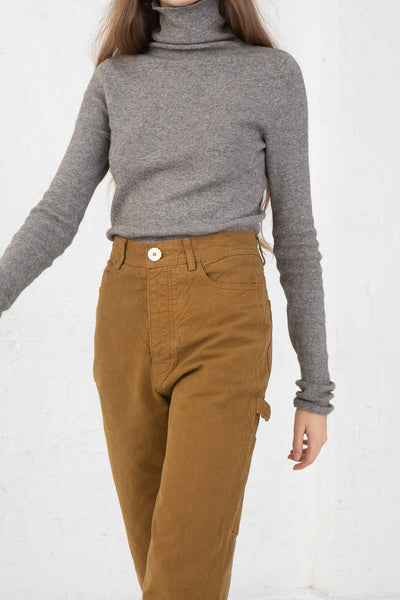Jesse Kamm Handy Pant in Tobacco cropped front view