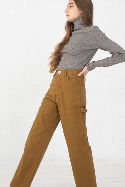Jesse Kamm Handy Pant in Tobacco side view