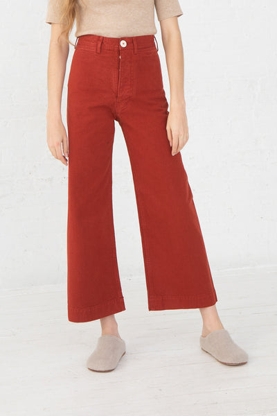 Jesse Kamm Sailor Pant in Iron Oxide front view, Oroboro Store, New York, NY