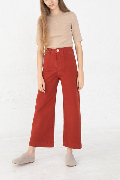 Jesse Kamm Sailor Pant in Iron Oxide front view