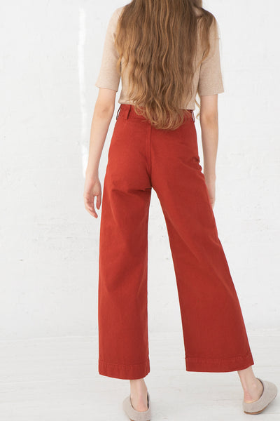 Jesse Kamm Sailor Pant in Iron Oxide back view