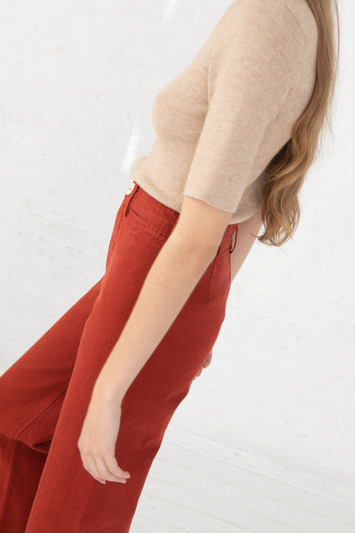Jesse Kamm Sailor Pant in Iron Oxide side view