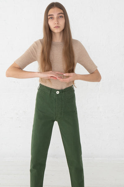 Jesse Kamm Ranger Pant in Olive front view