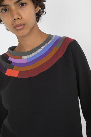 Mosaic Sweatshirt in Black