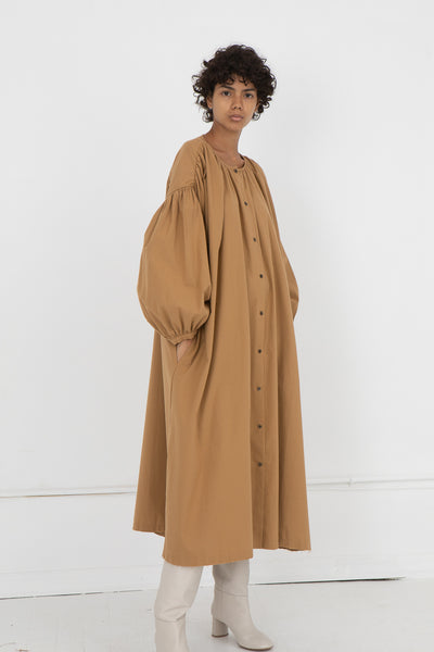 Sack Dress in Camel