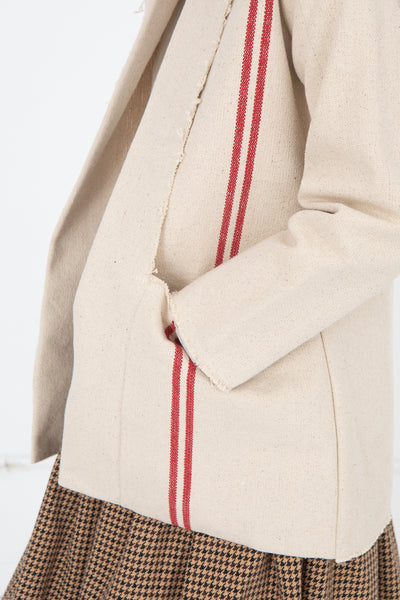 Hessian Jacket in Red Stripe