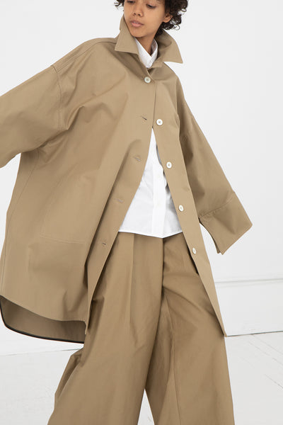 Long Shirtdress with Buttons in Beige