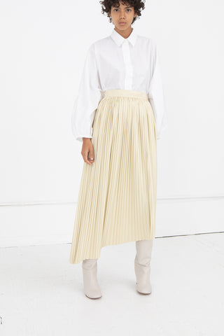 Pleated Skirt in Ecru