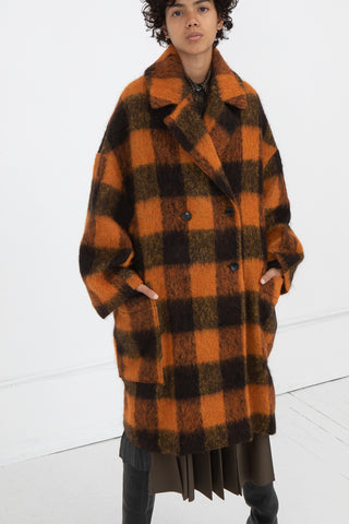 Hache Coat in Orange and Black | Oroboro Store | New York, NY