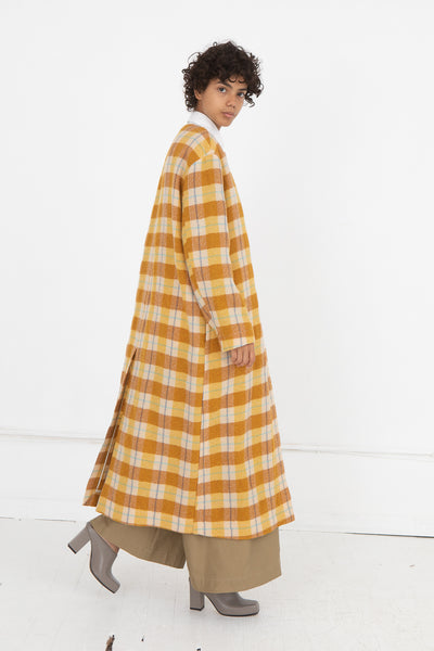 Coat in Yellow Check