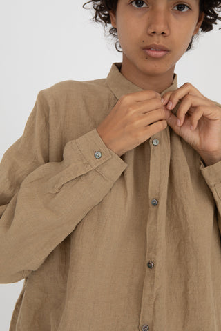 Shirt in Beige Linen