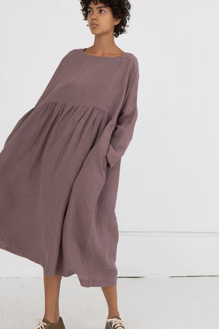 Dress in Purple Linen