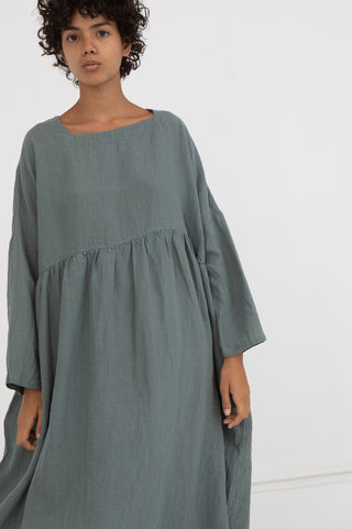 Dress in Green Linen