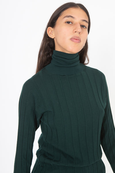 Sofie D'Hoore Marisol Sweater in Bottle Green | Oroboro Store | New York, NY