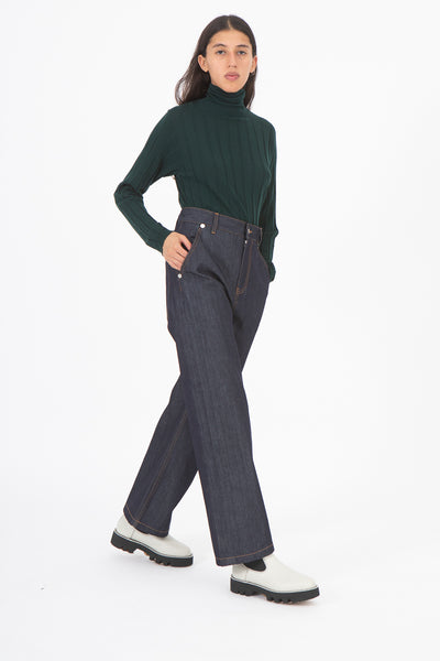 Sofie D'Hoore Parole Pant in Denim | Oroboro Store | New York, NY