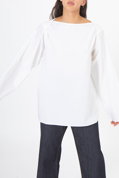Sofie D'Hoore Betul Top in White, Front View